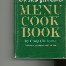 The New York Times Menu Cook Book Cookbook by Craig Claiborne Vintage Item