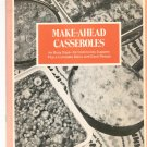 Make Ahead Casseroles Cookbook by A Countryside Handibook Vintage
