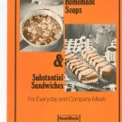 Hearty Homemade Soups & Substantial Sandwiches Cookbook by A Countryside Handibook Vintage
