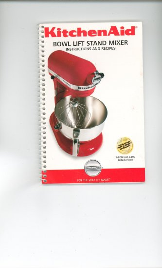 Kitchenaid Bowl Lift Stand Mixer Recipes And Instructions