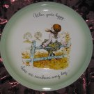 Holly Hobbie Collectors Edition Plate When You're Happy There Are Rainbows Every Day Vintage 1972