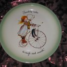 Holly Hobbie Collectors Edition Plate Friendship Makes The Rough Road Smooth Vintage 1972
