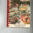 Our Favorite Recipes Cookbook Regional Church Faith Chapel W.M.S Indiana