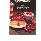 Comstock Easy Homemade Desserts That Say You Care Cookbook