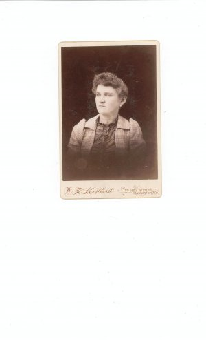 Vintage Photograph Woman With Jacket And Choker Necklace On Card Stock
