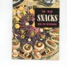 500 Tasty Snacks Ideas For Entertaining Cookbook Vintage Item