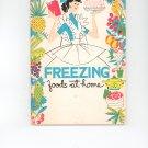 Freezing Foods At Home Cookbook Vintage