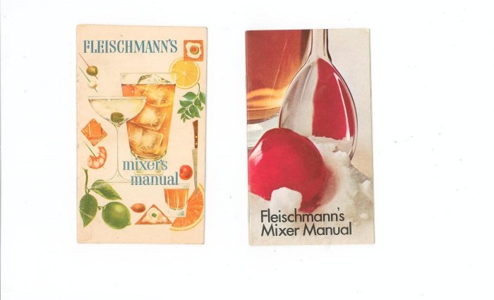 Lot Of 2 Fleischmanns Mixer Manual Recipe Guide Vintage