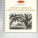 RSVP South Carolina Low Country Recipes Cookbook Regional Retired Seniors