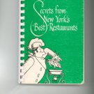 Secrets From New Yorks Best Restaurants Cookbook by Earlyne Levitas Lydia Moss Vintage