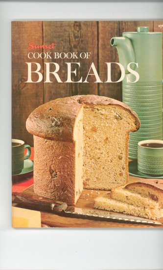 Sunset Cook Book Of Breads Cookbook Vintage