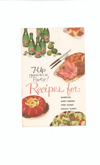 7 Up Goes To A Party Cookbook Vintage