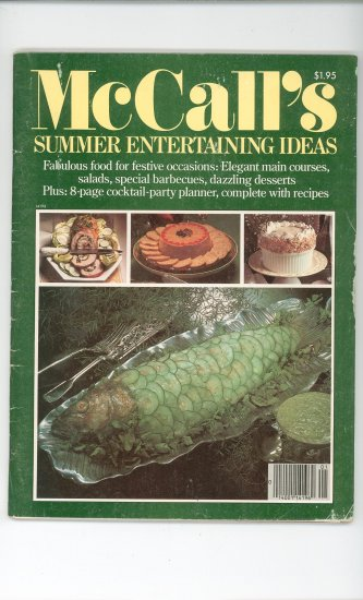 McCalls Summer Entertaining Ideas Magazine