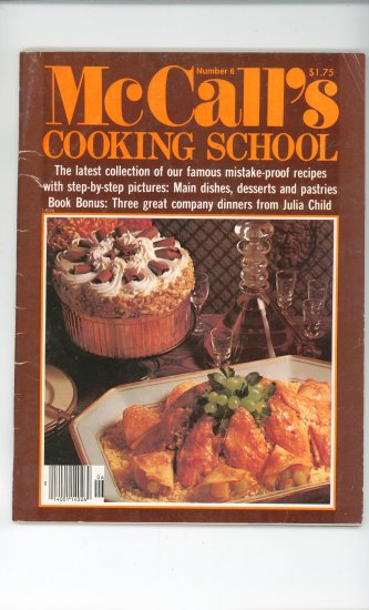 McCalls Cooking School Number 6  Magazine Vintage