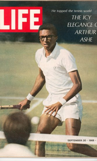 Life Magazine The Icy Elegance Of Arthur Ashe September 20 1968 Tennis Vintage
