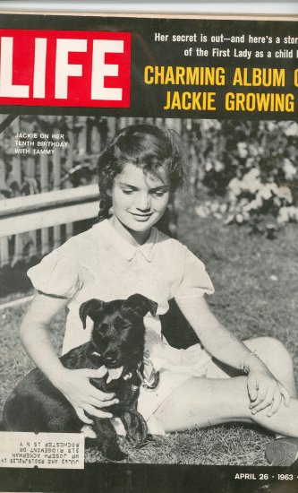 Life Magazine Jackie Kennedy Growing Up  April 26 1963 Vintage