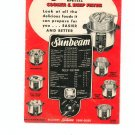 New Sunbeam Cooker & Deep Fryer Cookbook and Manual Vintage Item