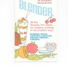 Proctor Silex 8 Button Solid State Blender Manual & Cookbook Vintage 090819