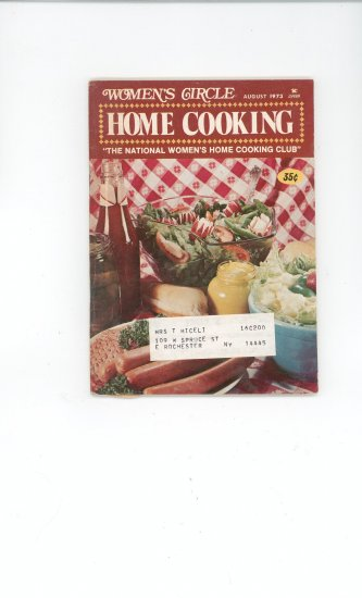 Womens Circle Home Cooking Cookbook Vintage August 1973
