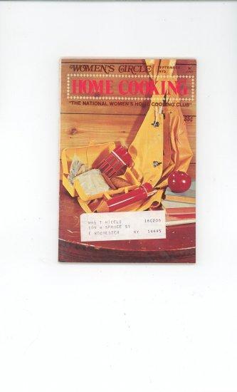 Womens Circle Home Cooking Cookbook Vintage September 1973