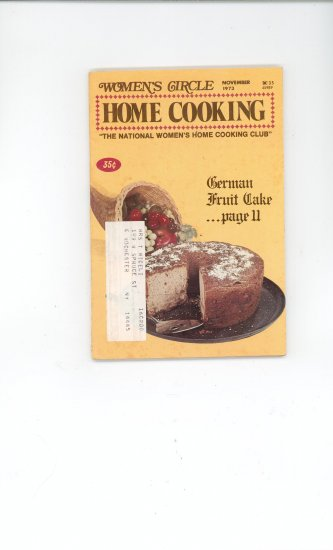 Womens Circle Home Cooking Cookbook Vintage November 1973
