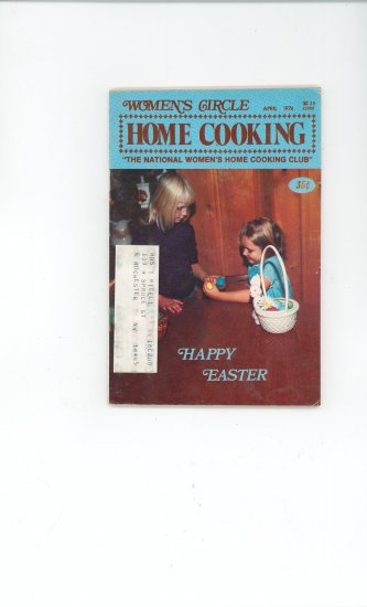 Womens Circle Home Cooking Cookbook Vintage April  1974