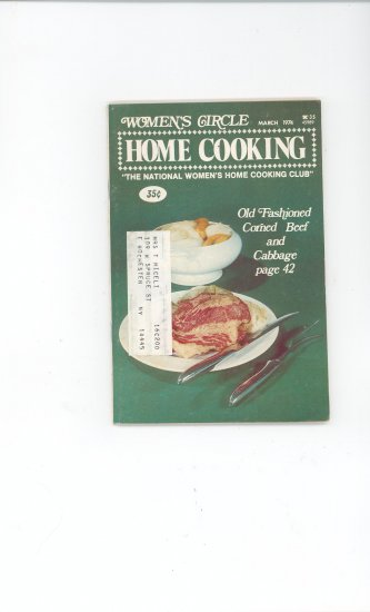 Womens Circle Home Cooking Cookbook Vintage March  1974