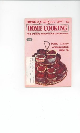 Womens Circle Home Cooking Cookbook Vintage February  1974