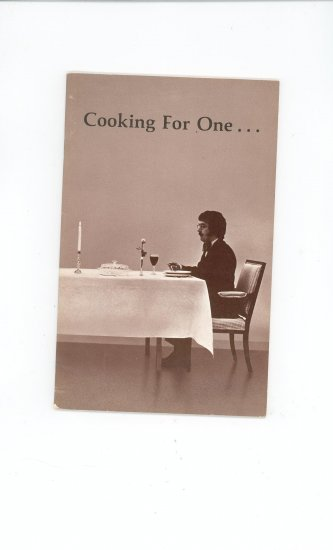 Cooking For One Or Two Cookbook by Rochester Gas & Electric Company Regional NY