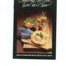 Cooking For One Two Or A Few Cookbook by Lipton Cup-A- Soup