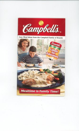 Campbells Meal Time Is Family Time Cookbook With over $5 In Coupons