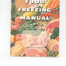 Food Freezing Manual Vintage