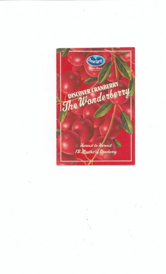 Discover Cranberry The Wonderberry Recipe Booklet by Ocean Spray
