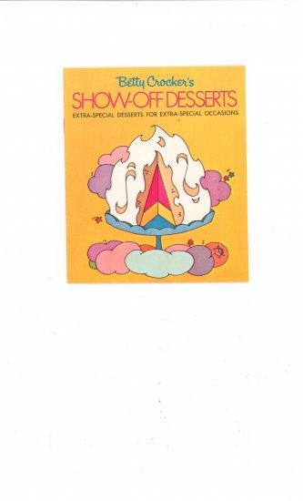 Betty Crockers Show Off Desserts Cookbook Recipe Vintage