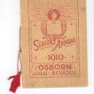 Senior Annual 1919 Osborn High School Ohio Yearbook Year Book