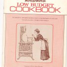Womens Household Low Budget Cookbook Vintage