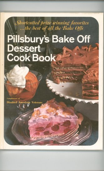 Pillsburys Bake Off Dessert Cookbook Vintage Compliments Disabled American Vetrans
