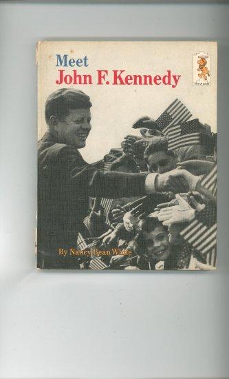 Meet John F. Kennedy by Nancy Bean White Childrens Book Vintage