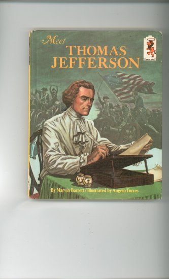 Meet Thomas Jefferson by Marvin Barrett Childrens Book Vintage