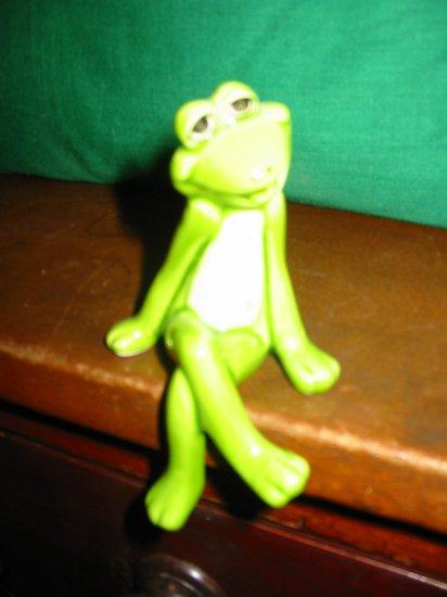 Frog Norcrest K502 Shelf Sitter Happy  How Cute