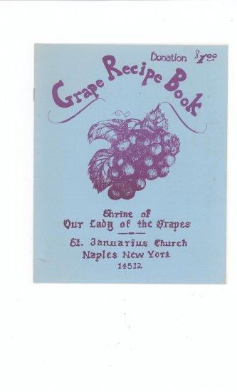 Grape Recipe Book Cookbook Regional New York Church Grape Pie Jelly Jam