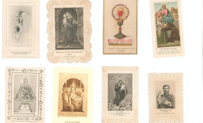 Lot Of 8 Assorted Religious Paper Items