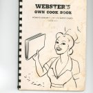 Websters Own Cook Book Cookbook Regional New York Church Auxiliary