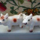 Cow Salt And Pepper Shakers With Tail Up Vintage Adorable