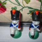 Soldier Salt And Pepper Shakers Vintage Adorable