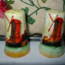 Windmill Scene Salt And Pepper Shakers Vintage