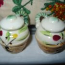 Handled Basket Salt And Pepper Shakers Vintage