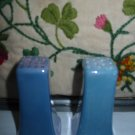 Blue Salt And Pepper Shakers Vintage