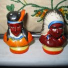 Indian Very Colorful Salt And Pepper Shakers Vintage