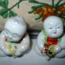 Oriental Playing Instruments Salt And Pepper Shakers Vintage
